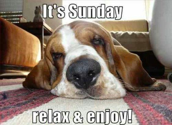 It's Sunday, relax & enjoy!