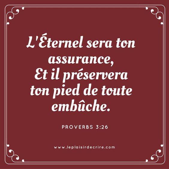 Proverbes 3:26