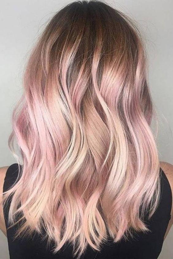 Eleganti idee per capelli colore oro rosa 2019 per le donne #capelli #colore #donne #eleganti