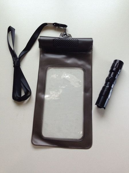 Water Resistant Handphone Pouch and LED Mini Torchlight