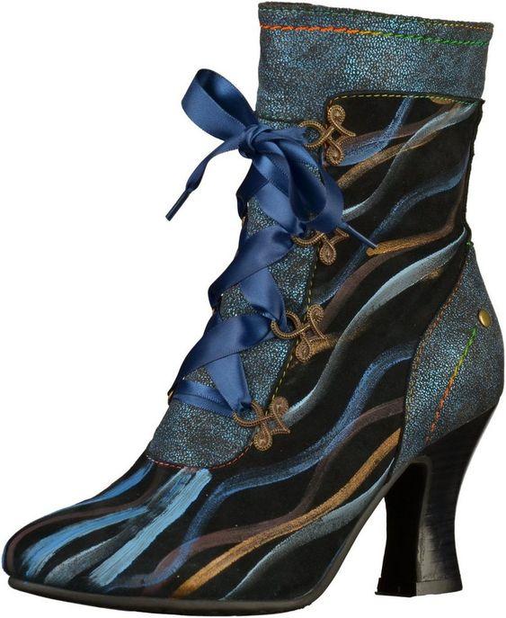 LAURA VITA »Leder/Textil« High-Heel-Stiefel für 104,95€. Verschluss: Reißverschluss, Absatzform: Trichterabsatz, Absatzhöhe: 8,5 cm bei OTTO