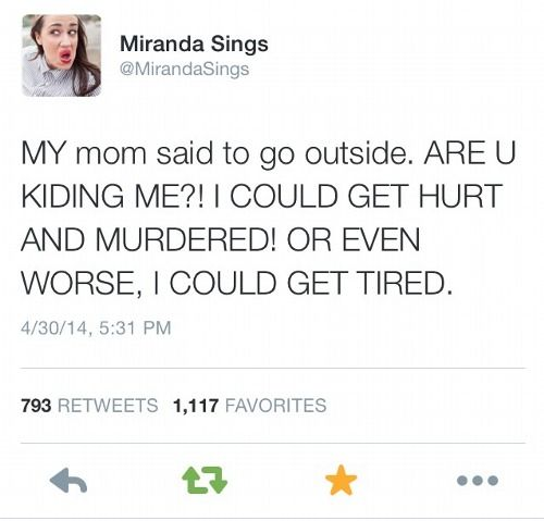 miranda sings, lol. ARE YOU KIDDING ME?!?!?!?!?!?!?!?! WHAT THE EVEN HECK?!?!
