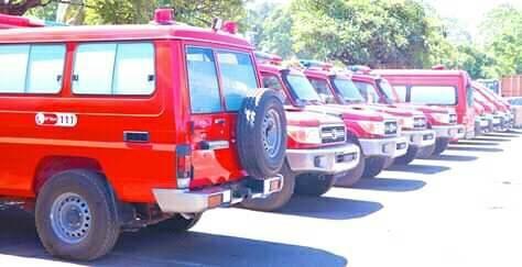 Cérémonie de remise des véhicules à la direction générale de la sécurité civile