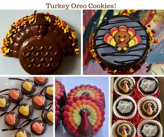 Thanksgiving Turkey Oreo Cookies