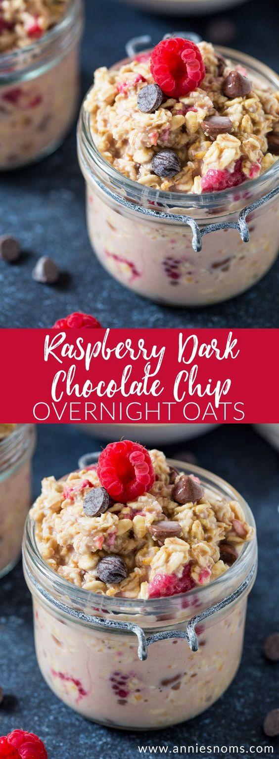 Raspberry Dark Chocolate Chip Overnight Oats