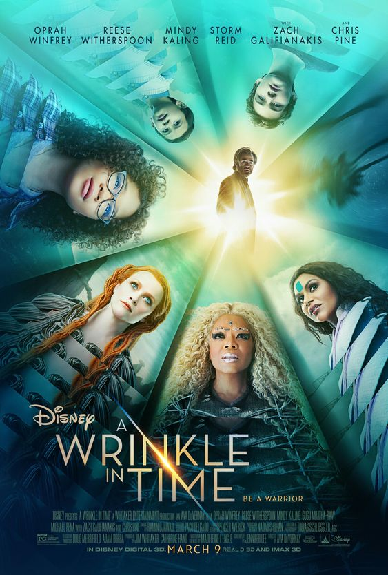 A Wrinkle In Time - 3.9.18   I will start reading this book before seeing this film. #SoExcited