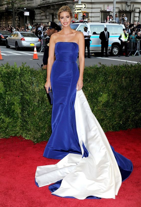 Love this royal blue dress.....Ivanka Trump In Prabal Gurung At The Met Gala 2015