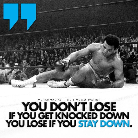 """If you get knocked down.."" Muhammad Ali [990x990] [OC] : QuotesPorn"