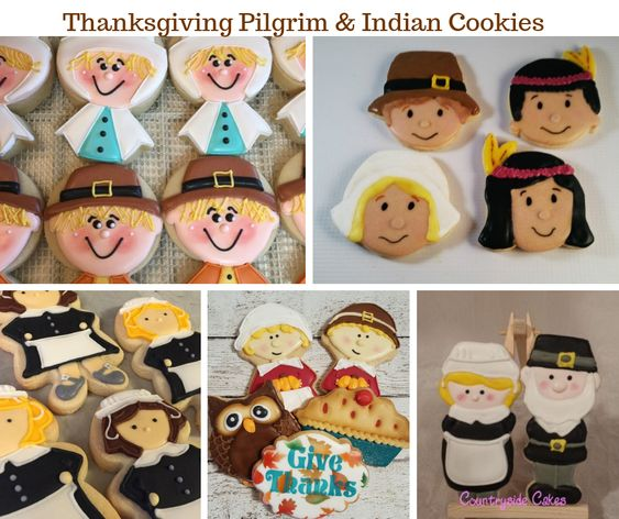 Thanksgiving Pilgrim and Indian Cookies
