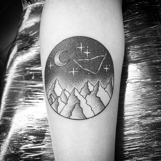 Cool Capricorn tattoo