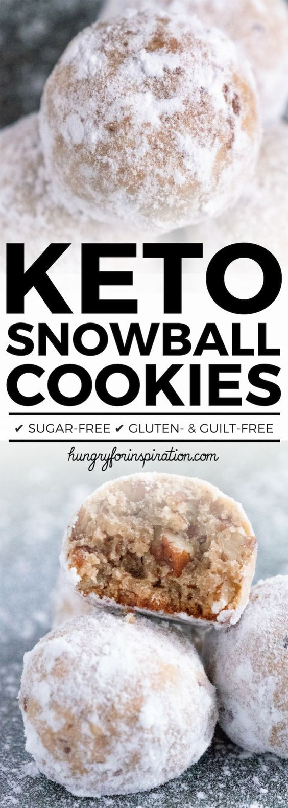 These Heavenly Keto Pecan Snowball Cookies are perfect Keto Christmas Cookies! They're incredibly good and will be the perfect addition to your holidays! And one cookie only has 1g net carbs! #keto #ketodiet #ketorecipes #ketogenic #ketogenicdiet #ketodessert #lowcarb #lowcarbdiet #lowcarbrecipes #lowcarbdessert #christmascookies