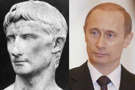 19 Mindblowing Historical Doppelgangers Caesar. Alexander Putin