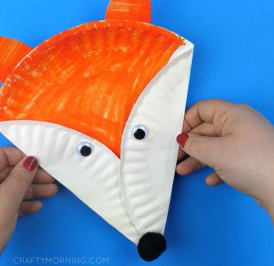 Paper Plate Fox Craft
