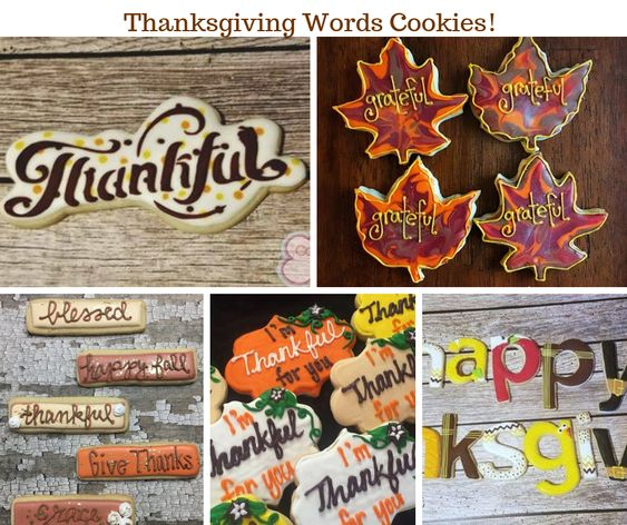 Thanksgiving Words Cookies