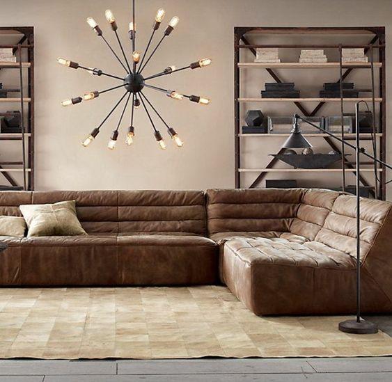 Vẻ đẹp phòng khách không gian mở thú vị cùng sofa da tphcm