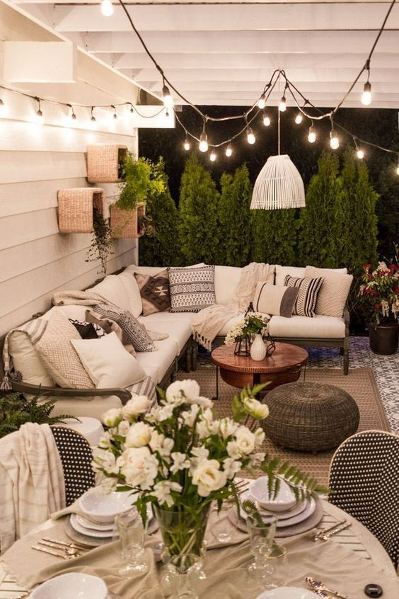 this is the perfect outdoor space. patio inspiration, summer patio, outdoor space