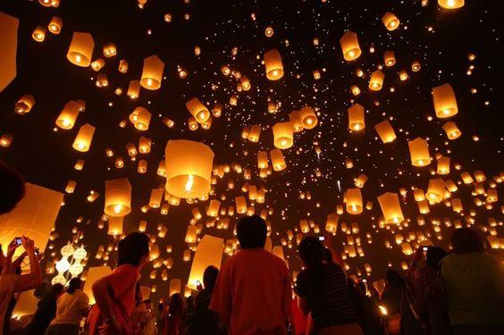 タイ・コムローイ祭りの美しい幻想的な写真・高画質画像まとめ!