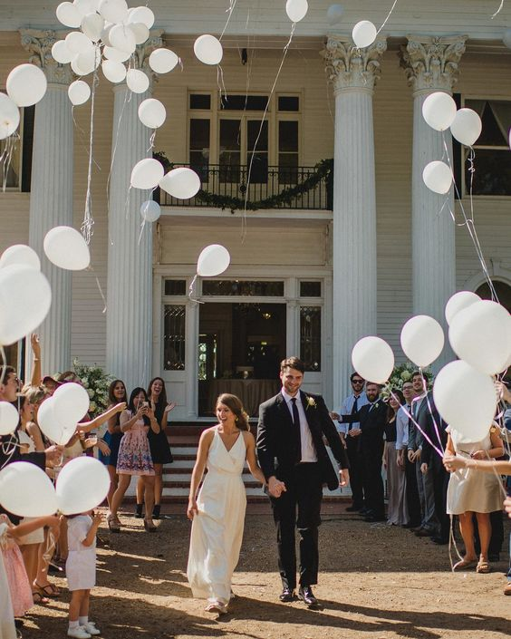Nothing says celebration like a bunch of balloons—this is a great alternative for daytime sendoffs, since sparklers are usually used at night.