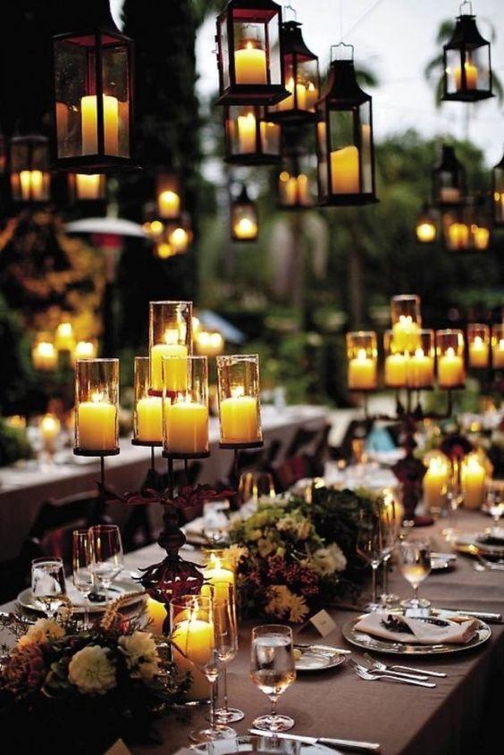 Non-Floral Centrepiece: Mismatched Candles