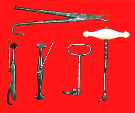 Antique dental instruments can