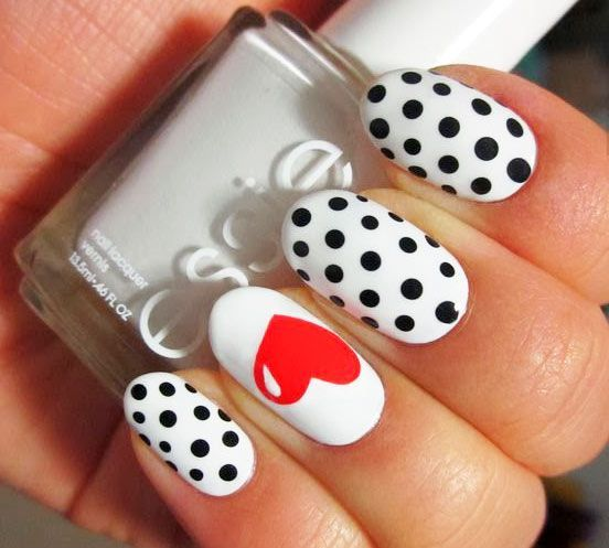 Ideas of nail designing for St Valentine's day (photos) - #day #Designing #Ideas #Nail #photos #st #Valentines