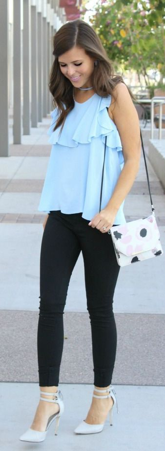 Insanely Cute Ruffle Blouses