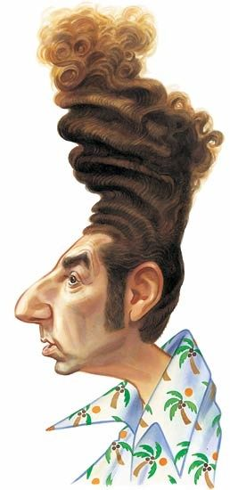 this might be a slight exaggeration, but Kramer's hair on Seinfeld was crazy