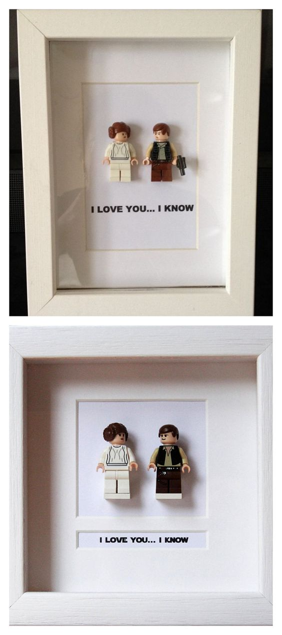 Express your love with the cute Lego minifigures - 18 Sweet DIY gift ideas for him - TodayWeDate.com