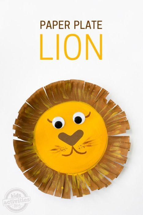 Paper Plate Lion Here's a cute kids craft. You start with a simple paper plate.