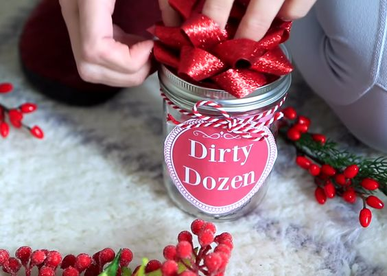 "Intimate ""Dirty dozen"" - A DIY jar of intimacy ideas - 18 Sweet DIY gift ideas for him - TodayWeDate.com"