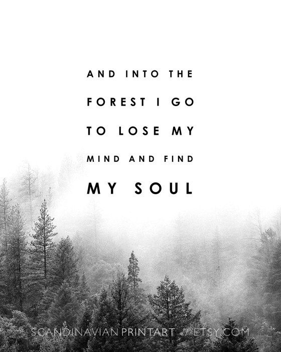 Downloadable wall art // Into the forest Art print - Black & White Welcome to Scandinavian Print Art! Print out the art on your printer at