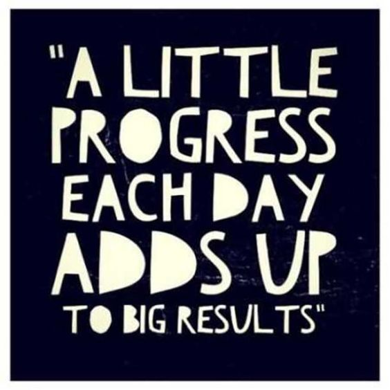 A little progress each day adds up to big results​ -35 motivational quotes to SLAY your goals - OurMindfulLife.com