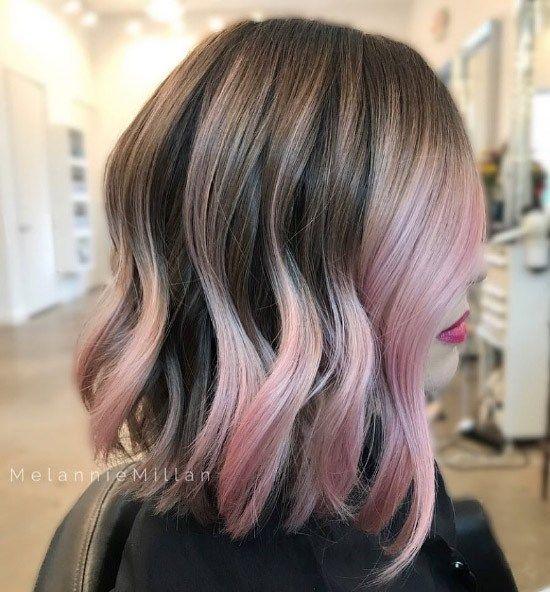 Popolare tonalità di capelli rosa e oro rosa per il 2019 #capelli #popolare #tonalita
