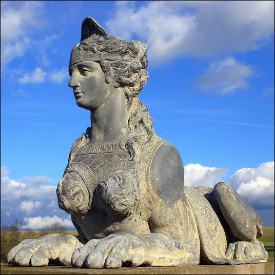 Compton Verney sphinx by Howard Stanbury on Flickr - One of four adorning the bridge in Warwickshire, UK
