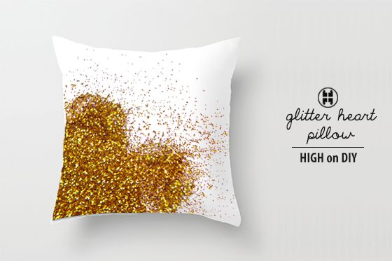 DIY_Glitter_Sequin_Metallic_Heart_Pillow2