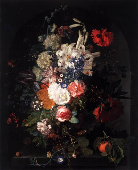 Still Life with Flowers in a Glass Vase, Jan Davidsz. de Heem - Google Search