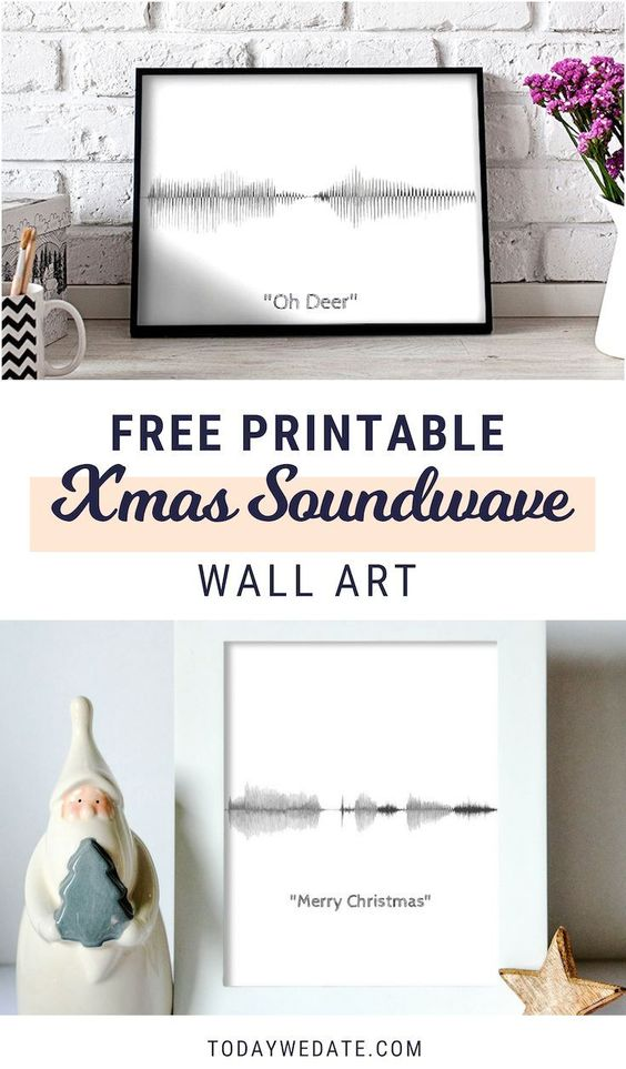 "A soundwave wall art that says ""I love you""- 18 Sweet DIY gift ideas for him - TodayWeDate.com"