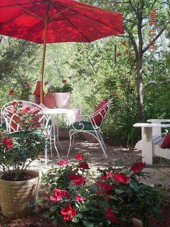 lovely red garden