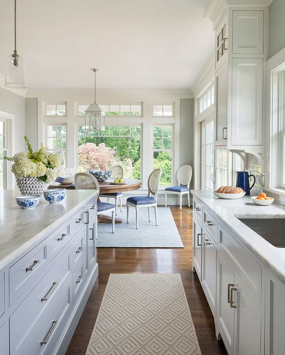 *Paint Color is Benjamin Moore OC-52 Gray Owl.Rhode Island Beach Cottage with Coastal Interiors