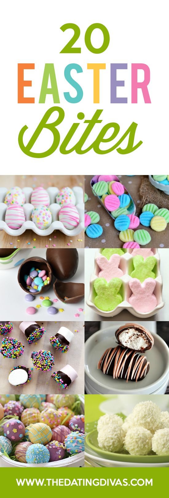 Easter Treats and Bites- so many cute easter goodie ideas to do with the kids