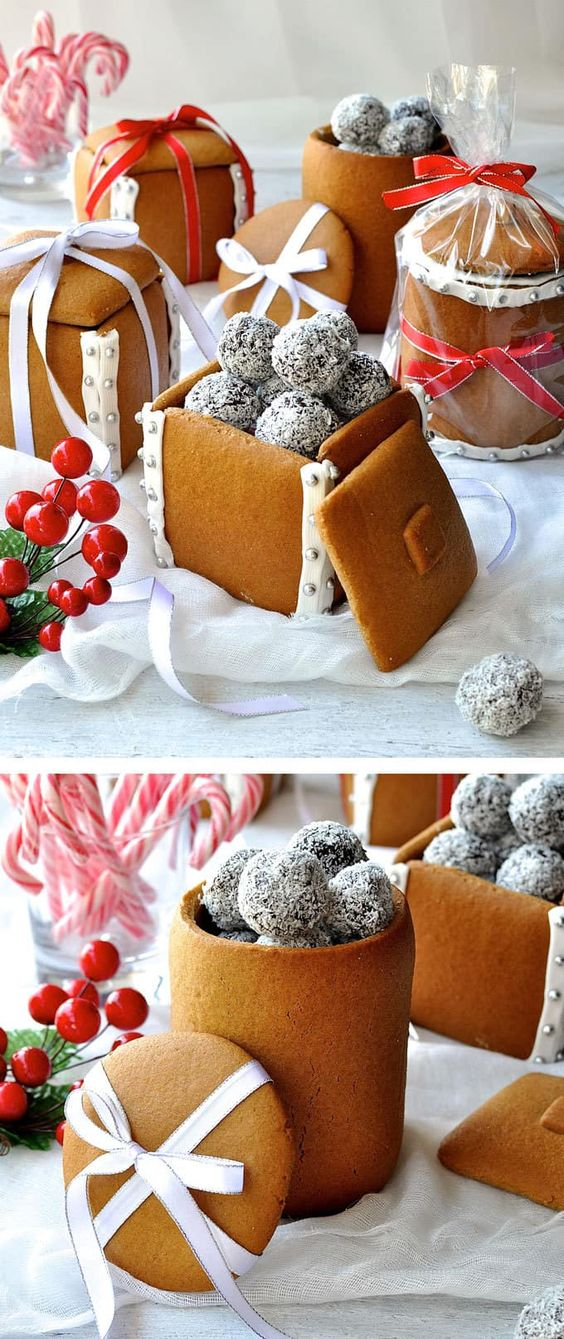 Festive Gingerbread Boxes and Mason Jars- 18 Sweet DIY gift ideas for him - TodayWeDate.com