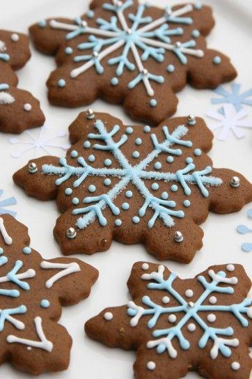 Biscotti di Natale light zenzero con decorazioni
