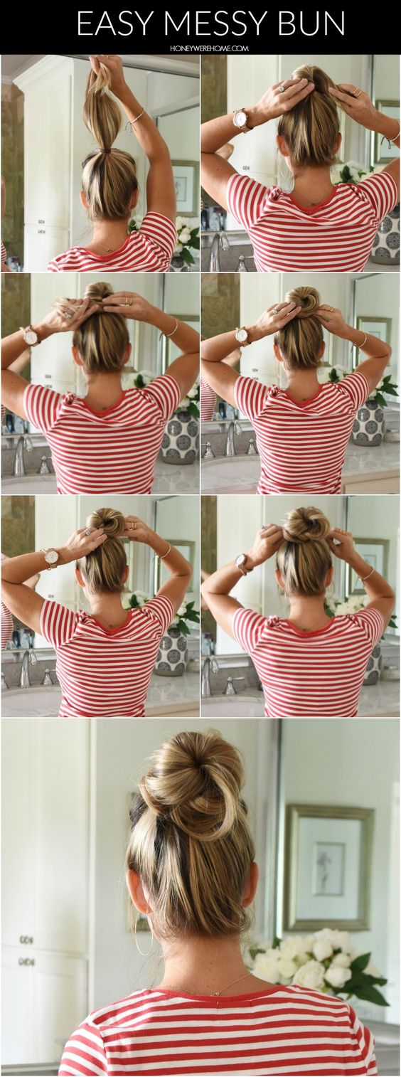 How to Do an Easy Messy Bun