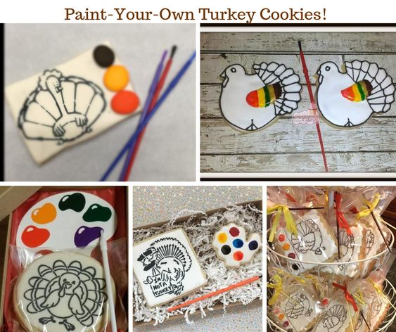 Paint Your Own Thanksgiving Turkey Cookies