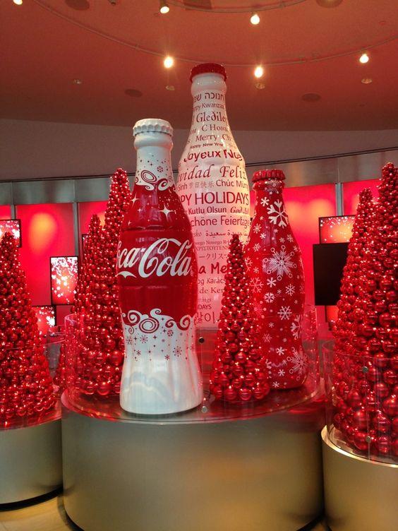 コカ・コーラのクリスマスオブジェ