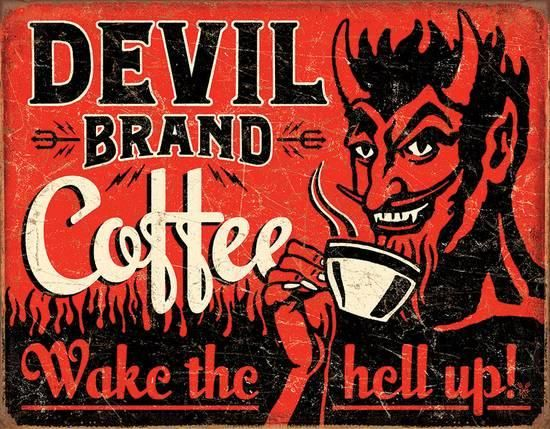 Devil Brand Coffee Tin Sign at AllPosters.com