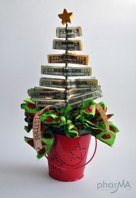 Easy& Quick DIY Christmas Money Tree  - Best Christmas crafts that are perfect gifts for him - TodayWeDate.com