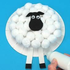 Lamb Puppet Paper Plate Craft