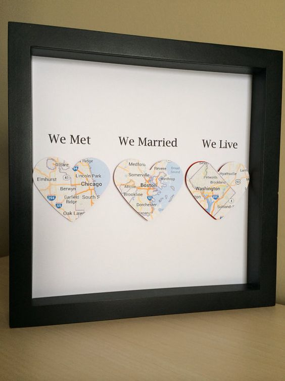 DIY love map - a documentary of the journey we've been through together - 18 Sweet DIY gift ideas for him - TodayWeDate.com