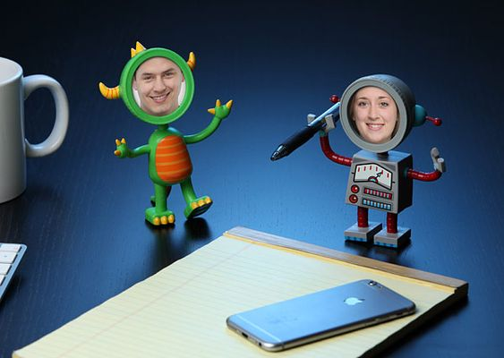 Robot & monster photo frame-16 Nerdy gifts to surprise him - TodayWeDate.com